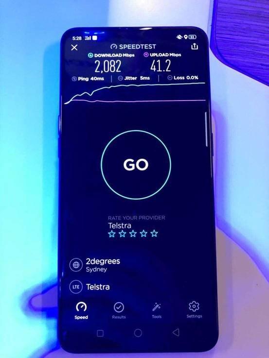 OPPO Reno 5G下载速度