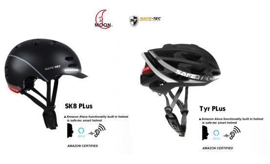 MOON旗下全球首款亚马逊Alexa智能头盔SAFE-TEC亮相CES2020