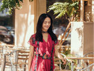姚晨优雅玩转色彩之韵 繁复印花穿出高级感 -中国女明星