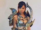 叶梓萱代言37游戏《大天使之剑》拍摄花絮