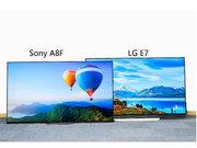 最强OLED电视之争 低7000块的索尼A8F力压LG E7