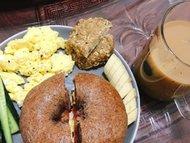 极客美食:无糖无油-电烤箱版黑全麦贝果