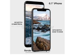 iPhone 9渲染图曝光:无刘海设计 最美全面屏非它莫属