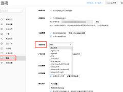 搜狗高速浏览器的页面字体如何设置?