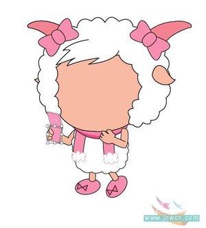 illustrator画卡通:漂亮可爱的美羊羊