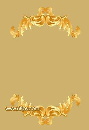 漂亮的金色花纹相框