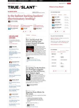 网页设计作品欣赏:杂志排版风格的网页设计