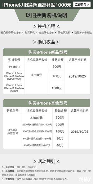 苏宁推出多重好礼 每月只需300元便把iPhone 11带回家