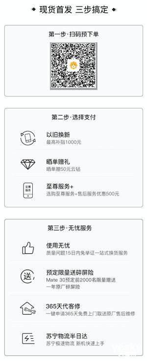华为Mate30系列苏宁首发 购机享最高千元补贴等多重好礼