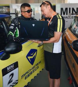 MINI赛车场上的发布会,机械师笔记本F117-FPlus热血出道