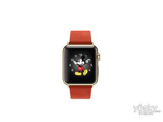 苹果watch Edition(38mm 18K黄金表壳搭配朱红色现代风扣式表带)