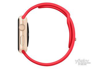 苹果watch Sport(42mm金色铝金属表壳搭配红色运动型表带)