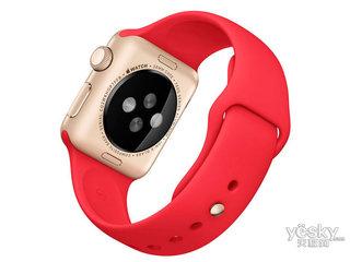 苹果watch Sport(38mm金色铝金属表壳搭配红色运动型表带)
