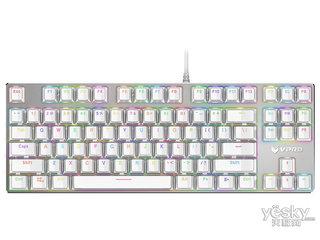 雷柏V500RGB冰晶版幻彩背光游戏机械键盘