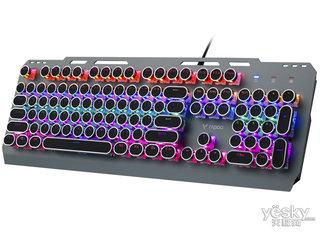 雷柏GK500朋克版混彩背光游戏机械键盘