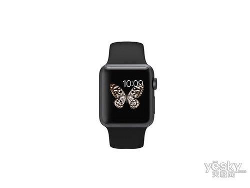 苹果watch Sport(38mm深空灰色铝金属表壳搭配黑色运动型表带)
