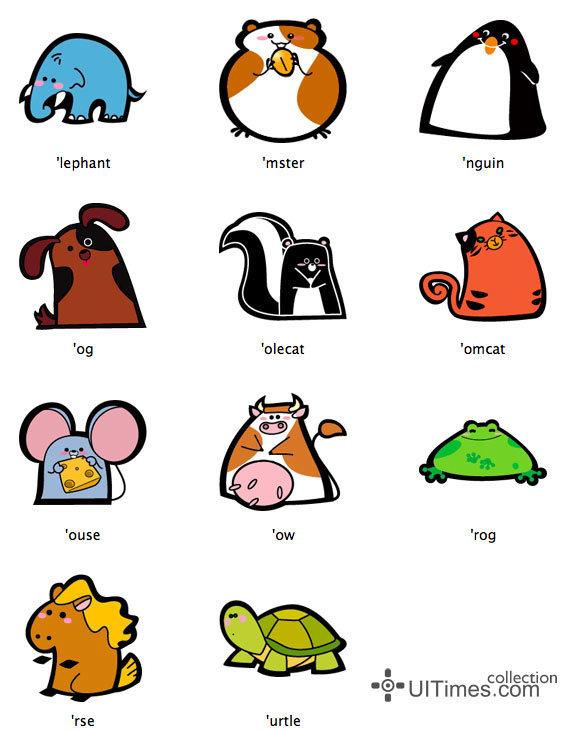 风格各异的可爱动物图标设计欣赏