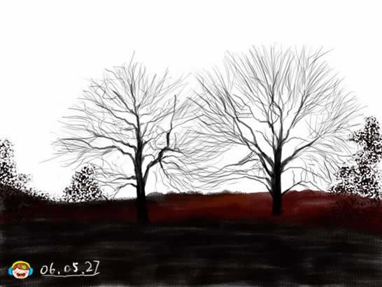 photoshop与手绘板打造美丽晚霞风景图