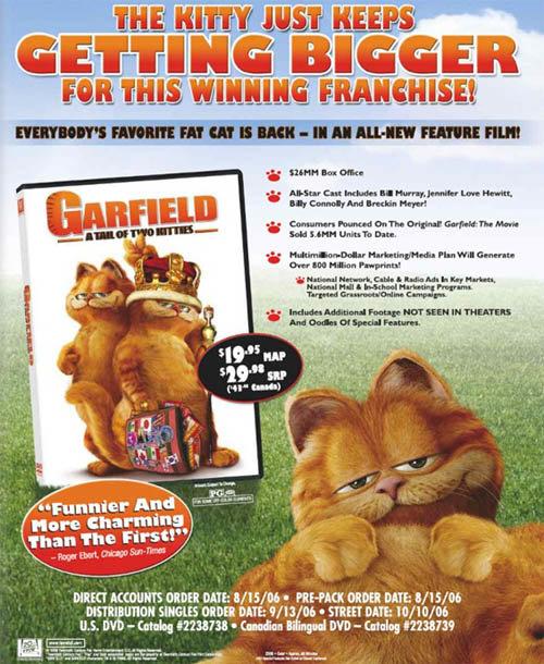 《加菲猫2之双猫记》北美一区发行信息