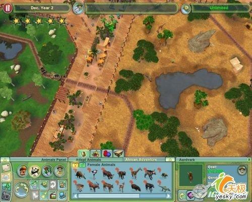 """首先介绍一下是它的扩展版""""《动物园大亨 2:濒危物种》(zoo tycoon 2"""