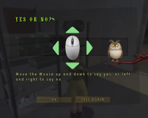 *学习说YES或NO的方法:上下移动鼠标标识YES,左右移动鼠标表示...