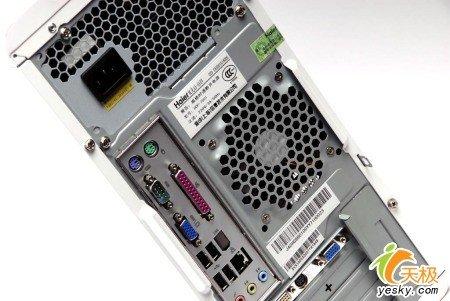 海尔极光a6-6609主机背后有大面积散热孔