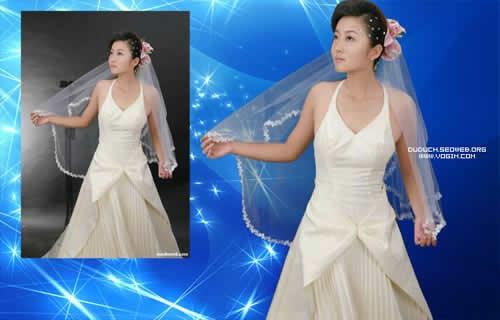 photoshop半透明婚纱照片抠图简单方法
