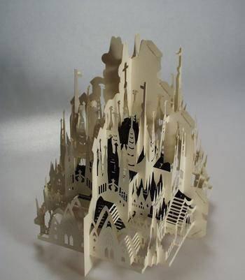 开合式立体纸雕贺卡设计作品欣赏