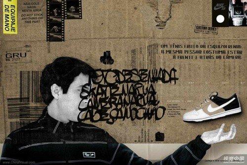 nike复古鞋平面广告设计欣赏
