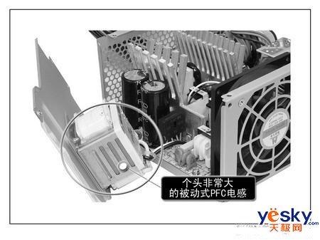 主动pfc的产品内部电路观察一般采用单只高压滤波电容,滤波电容