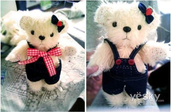 就提供了包括各种材料的泰迪熊,乡村兔等玩具的手工材料包(图6).