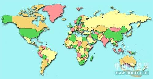 附:世界地图素材