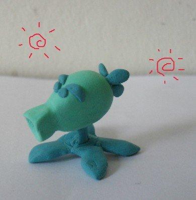 玩家自制:纸黏土做的植物大战僵尸的玩偶