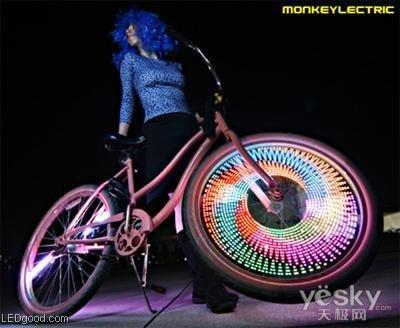 自行车led灯安装图解