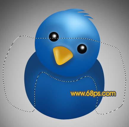 photoshop制作可爱的蓝色小鸟