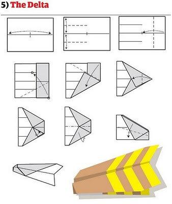 传说中12种纸飞机的折法