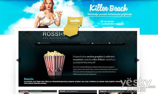 设计欣赏:单页网站页面设计作品