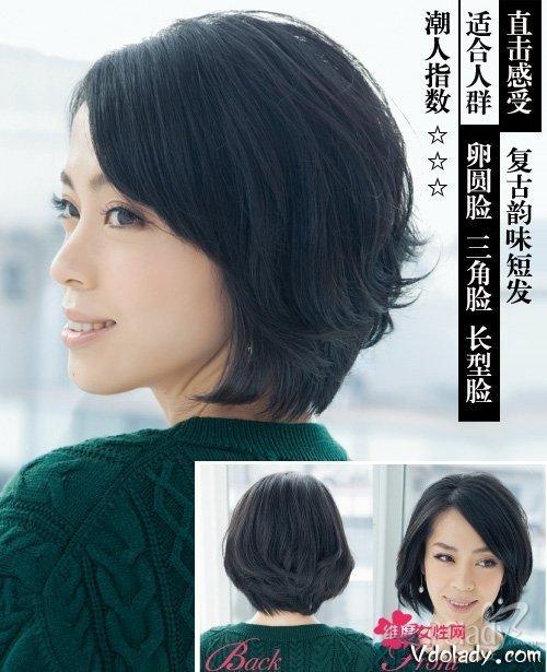 空气感短发俏皮刘海打造发型!