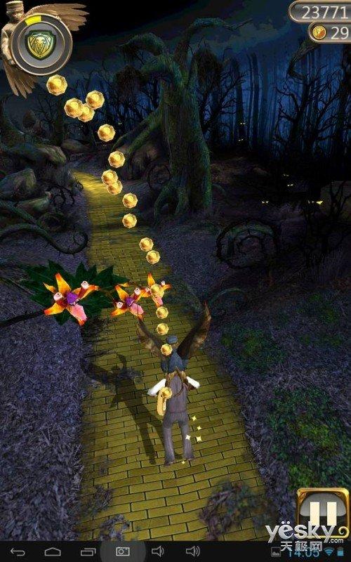 游戏中的绳索变成了热气球,将带你越过茫茫冰海,到达黑森林,趣味图片