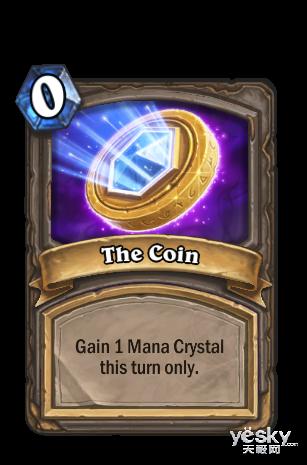炉石传说法术卡牌幸运币