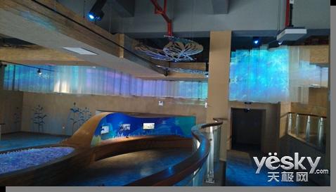 索尼投影机呈现之长沙洋湖论文科学探索中心v论文景观设计湿地图片