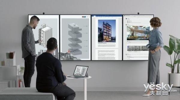 微软展示Surface Hub 2S平板:50.5英寸4K+屏幕、2019年发售