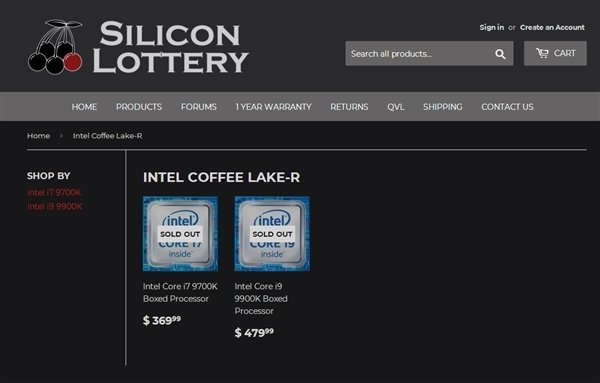 i9-9900K/i7-9700K报价流出:升级大价格也高
