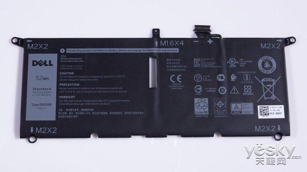戴尔新款XPS 13拆解:好大的电池
