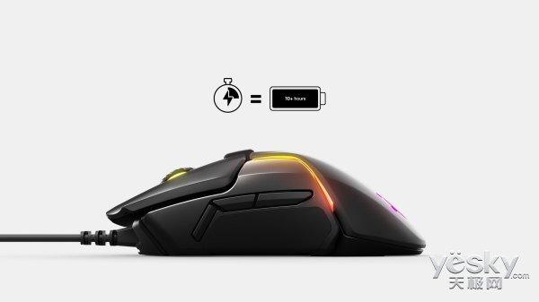 充电15分钟续航10小时 赛睿Rival 650 Wireless无线游戏鼠标支持快充技术
