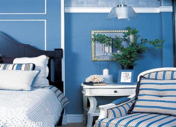 大海的蔚蓝在家居设计中巨常见  搭配巧妙可以演绎出不同的风格!