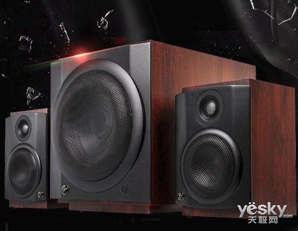 打造桌面私人影院 惠威M-80W无线有源2.1音响系统