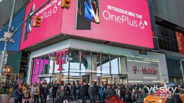 感谢T-Mobile!外媒:一加6T美国热销,首日销量比一加6高出86%