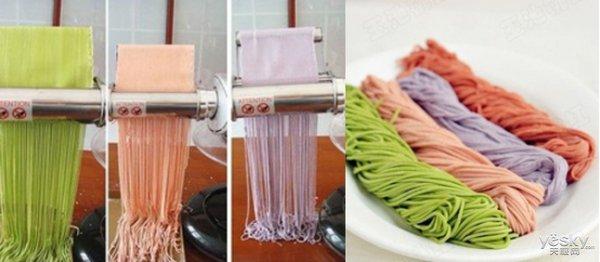 极客美食:健康又养眼―厨师机自制蔬菜汁彩色面条