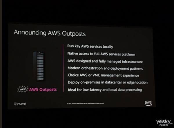 进军混合云领域 亚马逊AWS亮出混合云产品Outposts